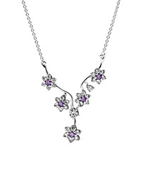 Pandora Design Pandora Necklace Sterling Silver And Cubic Zirconia Forget Me Not 17.7