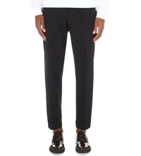 Dries Van Noten Philip Cotton Pique Trousers Nav
