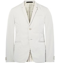 Cos Grey Slim Fit Padded Peached Shell Blazer Light Gray