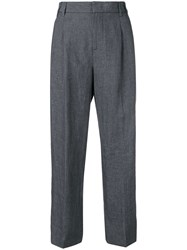 Aspesi Cropped Tailored Trousers Grey