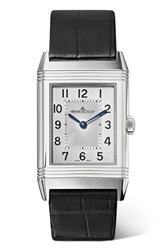 Jaeger Lecoultre Reverso Classic Medium Thin 24.4Mm Stainless Steel And Alligator Watch Silver
