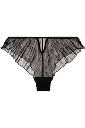 Le Petit Trou Marine Swiss Dot Tulle Briefs Black