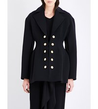 Ellery Button Detailed Twill Jacket Black W Gold