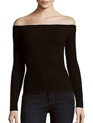 1.State Long Sleeve Off The Shoulder Top Rich Black