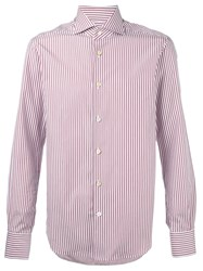 Kiton Striped Shirt Red