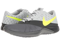 Nike Fs Lite Trainer 4 Dark Grey Volt Pure Platinum Anthracite Men's Shoes Gray