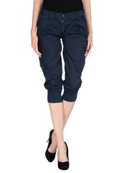 Aeronautica Militare Trousers 3 4 Length Trousers Women Dark Blue