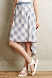 Marrakech Coastal Plaid Skirt Blue Motif