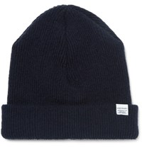 Norse Projects Ribbed Lambswool Beanie Navy