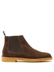 Paul Smith Dart Suede Chelsea Boots Brown