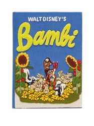 Olympia Le Tan Walt Disney's Bambi Embroidered Book Clutch Blue Multi