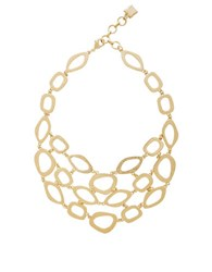 Bcbgmaxazria Textured Layered Necklace Gold