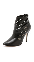 Steven Triisha Cutout Booties Black