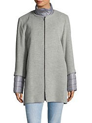 Cinzia Rocca Zip Crewneck Jacket Light Grey