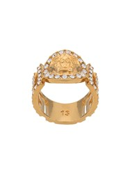 Versace Icon Medusa Crystal Ring Gold