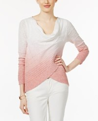 Inc International Concepts Dip Dye Crossover Top Only At Macy's Rose Dawn