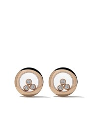 Chopard 18Kt Rose Gold Happy Diamonds Icons Ear Pins Unavailable