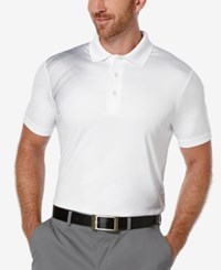 Pga Tour Men's Vanishing Argyle Print Polo Shirt Bright White