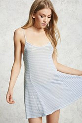 Forever 21 Caged Back Tunic Blue
