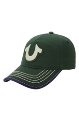 Men's True Religion Brand Jeans 'Horseshoe' Cap Green Skate Park