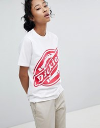 Dickies Oversized T Shirt With Large Logo White