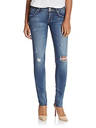 Hudson Collin Distressed Skinny Jeans Beauty