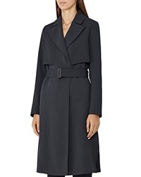 Reiss Lina Trench Coat Night Navy