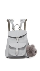 Grafea Katya Backpack With Bear Pom Pom Grey