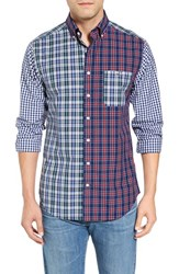Vineyard Vines Men's Pinecone Party Tucker Slim Fit Plaid Sport Shirt