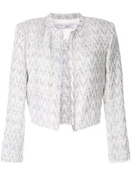 Iro Cropped Tweed Jacket Silver