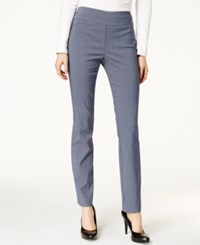 Charter Club Printed Cambridge Slim Ankle Pants Only At Macy's Navy White Mini Check