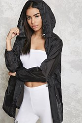 Forever 21 Sheer Hooded Windbreaker