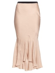Haider Ackermann Myristicin Bias Cut Satin Skirt Light Pink