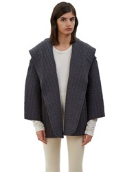 Lauren Manoogian Oversized Kendo Hooded Jacket Black