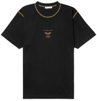 Cmmn Swdn Ridley Printed Cotton Jersey T Shirt Black
