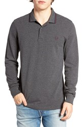 Fred Perry Men's Twin Tipped Long Sleeve Pique Polo