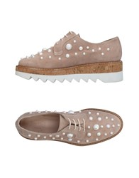 Pertini Lace Up Shoes Sand