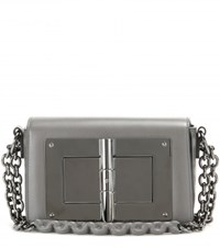 Tom Ford Natalia Small Leather Shoulder Bag Grey