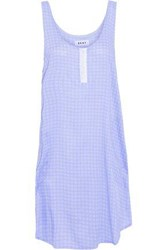 Dkny Woman Printed Voile Nightdress Light Blue
