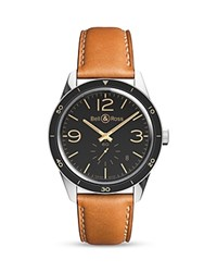 Bell And Ross Br 123 Golden Heritage Watch 43Mm Black Tan