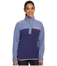 Columbia Mountain Side Pullover Nightshade Bluebell Heather Women's Long Sleeve Pullover