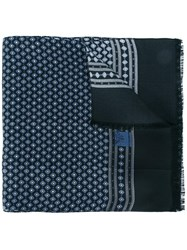 Dolce And Gabbana Patterned Scarf Blue