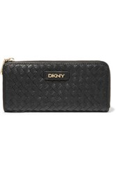Dkny Woven Leather Wallet Black