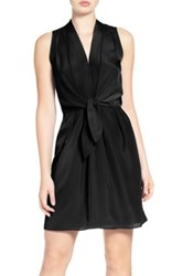 Felicity And Coco Sleeveless Tie Front Dress Black