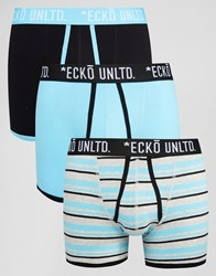 Ecko Unlimited Ecko 3 Pack Trunks Blue Set Blue