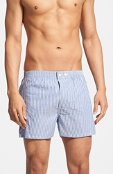 Nordstrom Classic Fit Cotton Boxers Assorted 3 Pack Blue Check Stripe