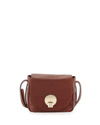Kooba Claude Small Saddle Bag Brown Metallic