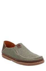 Clarksr Men's Clarks Trapell Form Slip On Olive Canvas