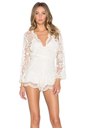 Jens Pirate Booty Wanderlust Lace Ara Playsuit Cream