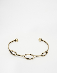 Asos Bangle With Knots In Gold
